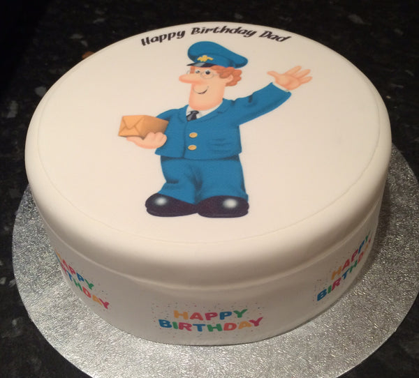 Postman Mail Man Edible Icing Cake Topper
