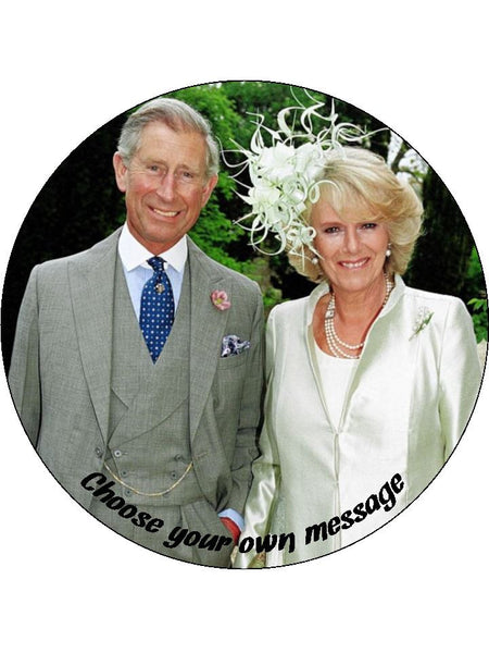 Prince Charles & Camilla Edible Icing Cake Topper 01