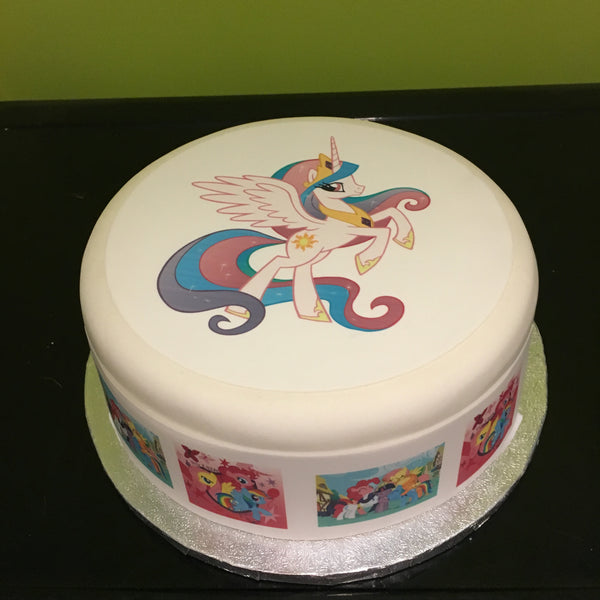 My Little Pony Princess Celestia Edible Icing Cake Topper 01