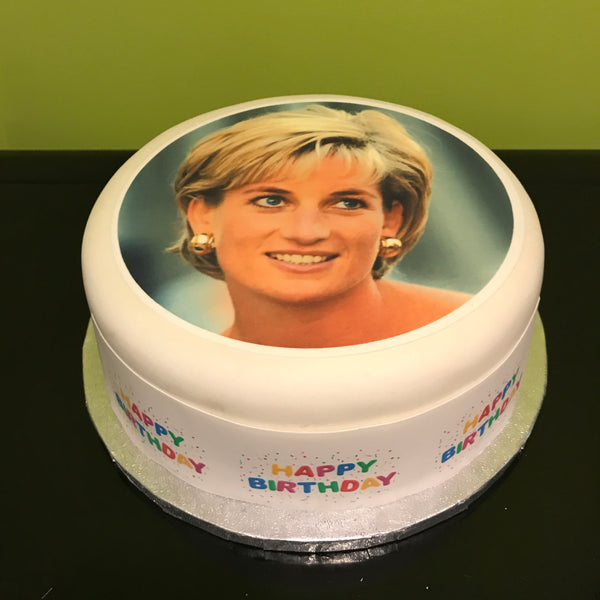 Princess Diana Lady Di Edible Icing Cake Topper 01