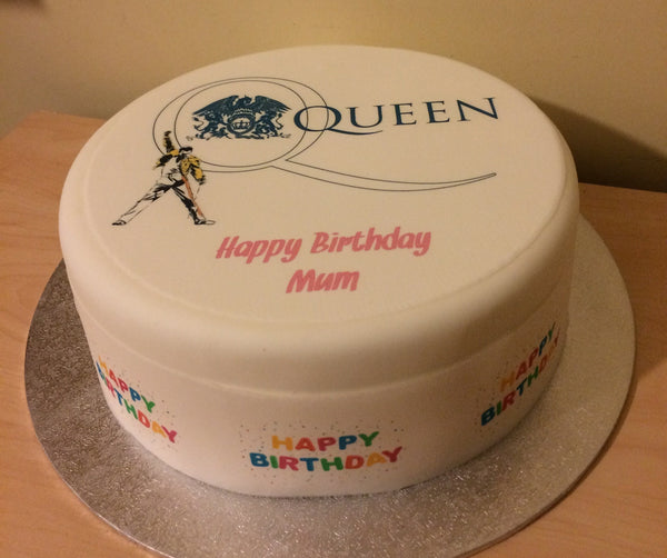 Queen Freddie Mercury Edible Icing Cake Topper 01