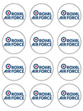 RAF Royal Air Force Logo Edible Icing Cake Topper