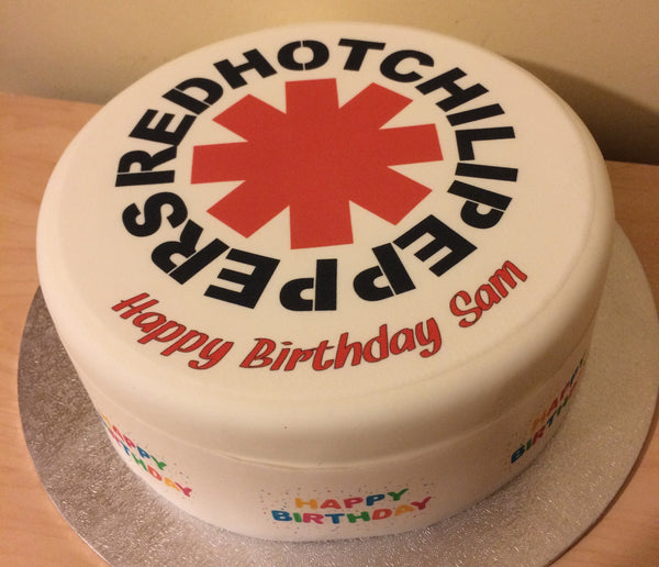 Red Hot Chili Peppers Edible Icing Cake Topper 01