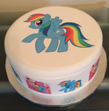 My Little Pony Rainbow Dash Edible Icing Cake Topper 02