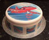 Red Arrows Planes Edible Icing Cake topper 02