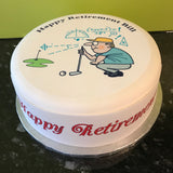 Retirement Retire Edible Icing Cake Topper 10