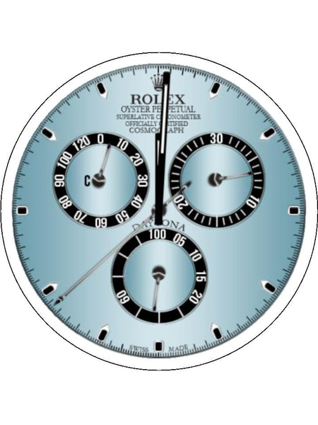 Rolex Watch Face Edible Icing Cake Topper 04 The Caker