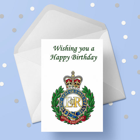 Royal Engineers Birthday Card