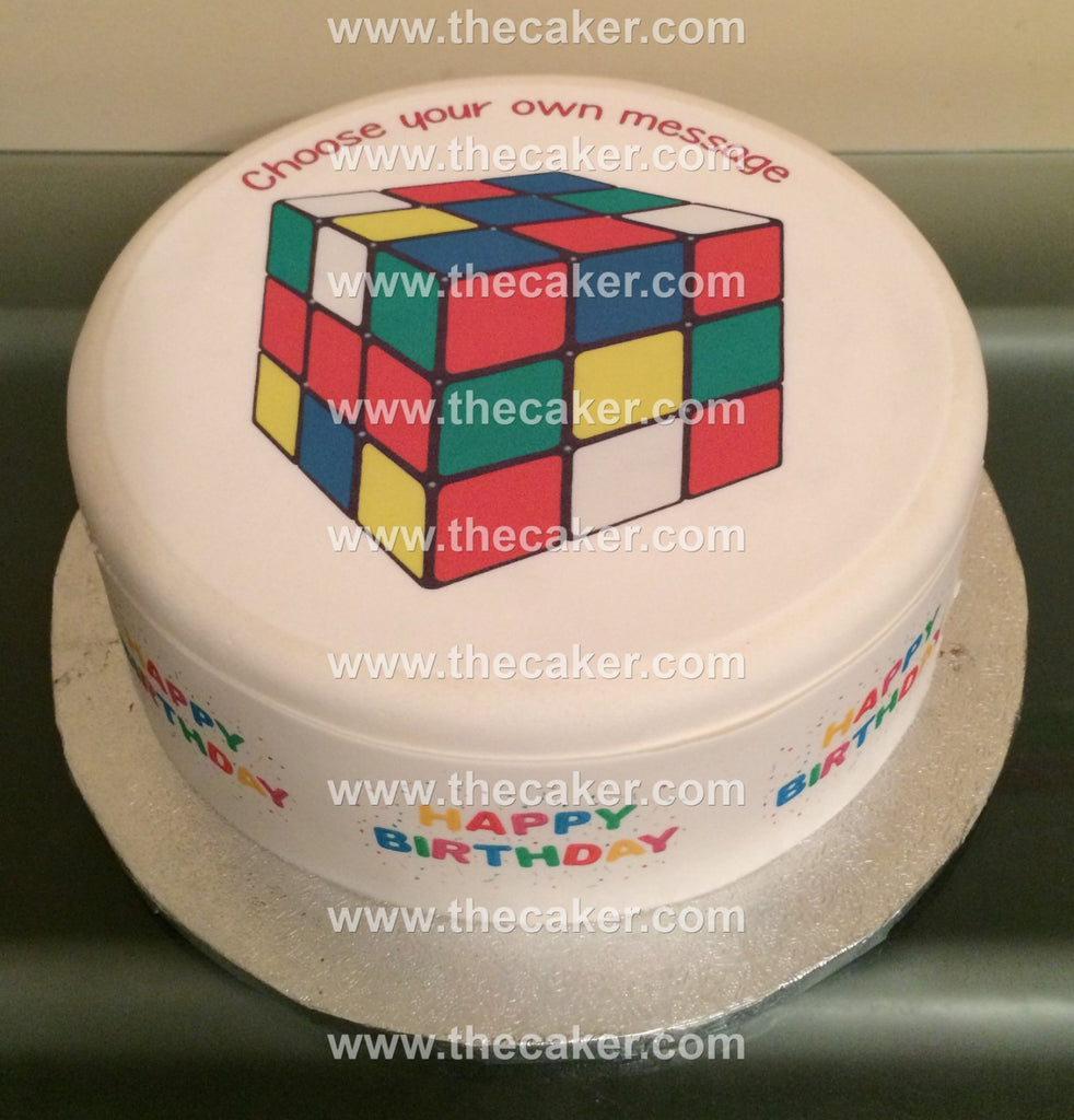 rubix cube edible icing cake topper the caker online