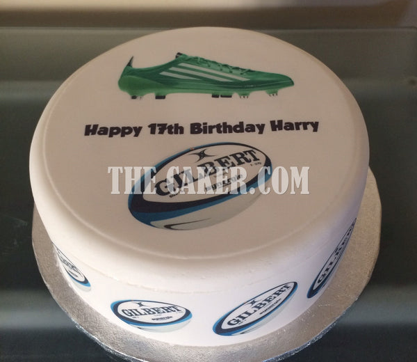 Rugby Boot Edible Icing Cake Topper