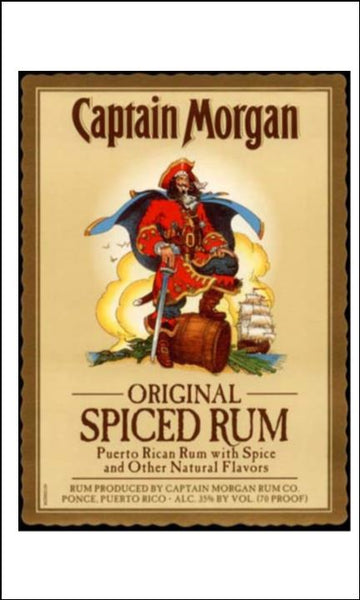Rum Label Edible Icing Topper 06 - Captain Morgan Spiced