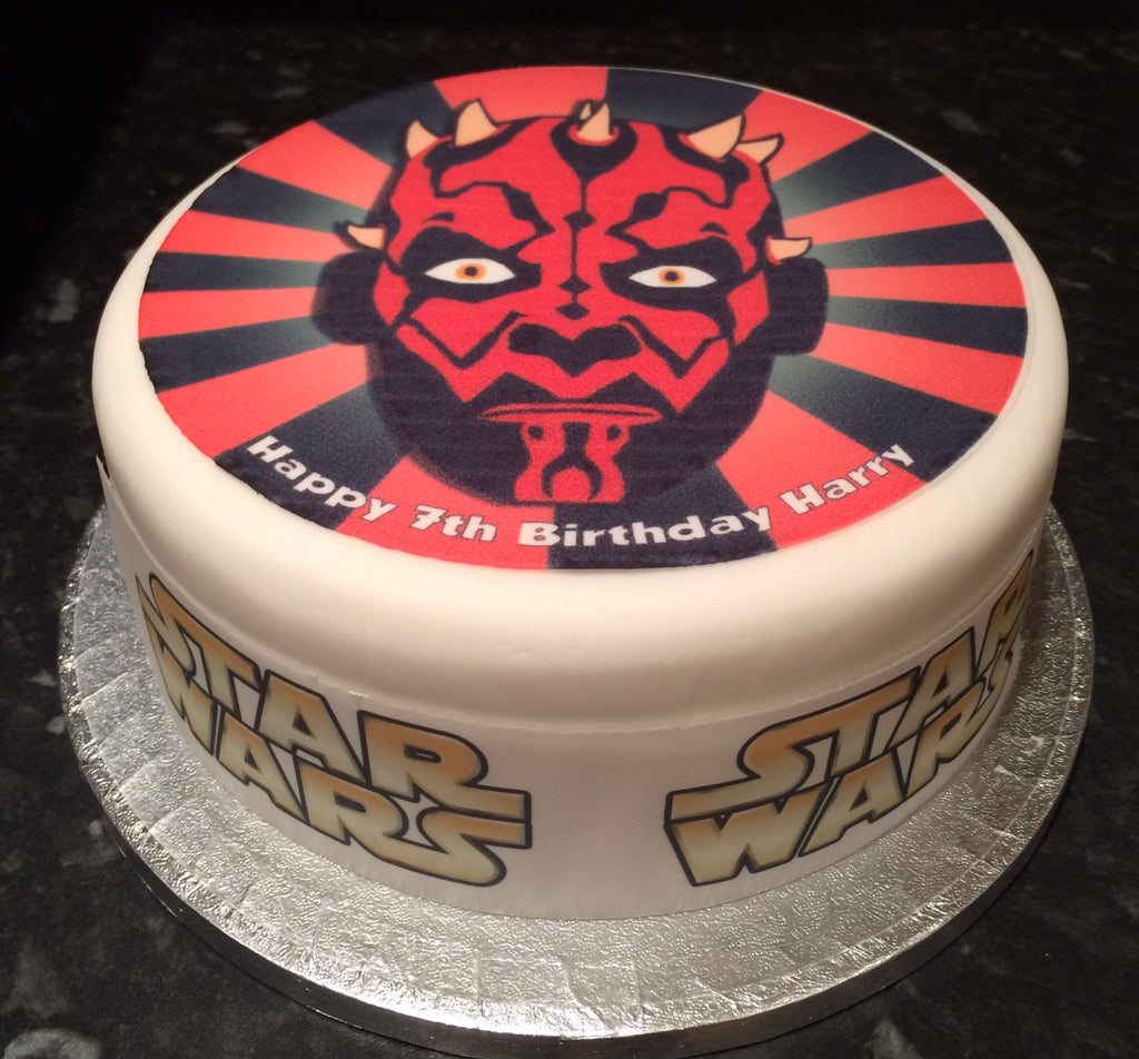 Remarkable Star Wars Edible Icing Cake Topper 07 Darth Maul The Caker Online Personalised Birthday Cards Fashionlily Jamesorg