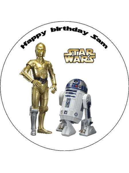 Star Wars R2D2 & CP3O Edible Icing Cake Topper