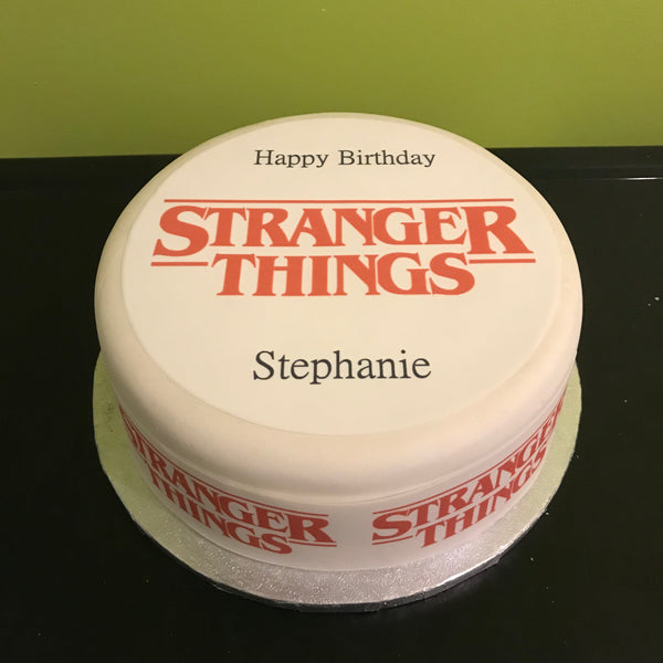 Stranger Things Logo Edible Icing Cake Topper