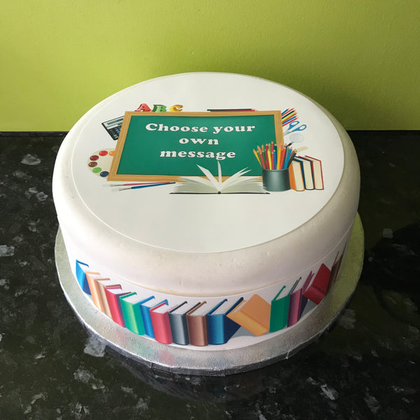 School Theme Edible Icing Cake Topper