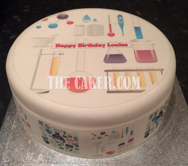 Science Theme Edible Icing Cake Topper 01