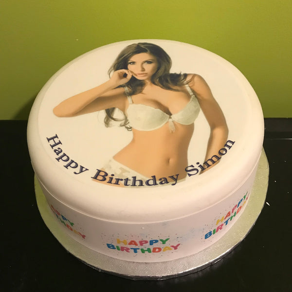 Sexy Girl Boobs Edible Icing Cake Topper 04