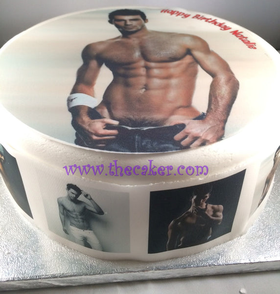 Sexy Hot Guy Edible Icing Cake Topper 01
