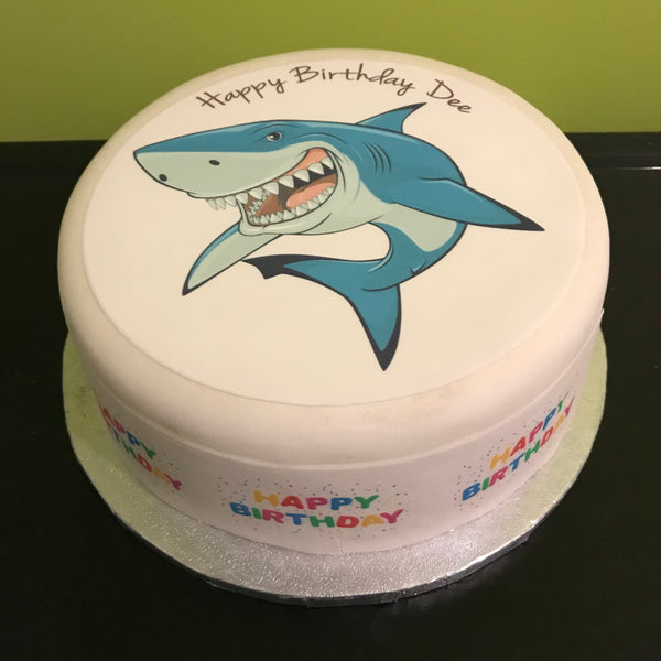 Shark Edible Icing Cake Topper 03