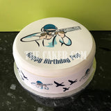 Clay Pigeon Shooting Edible Icing Cake Topper 02