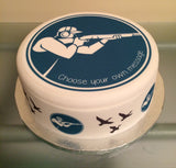 Clay Pigeon Shooting Edible Icing Cake Topper