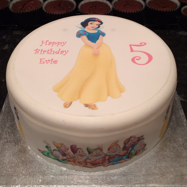 Snow White Edible Icing Cake Topper 02
