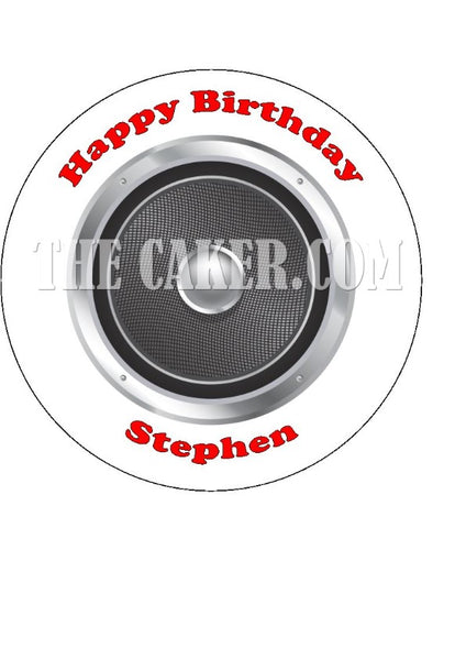 Music Speaker Edible Icing Cake Topper