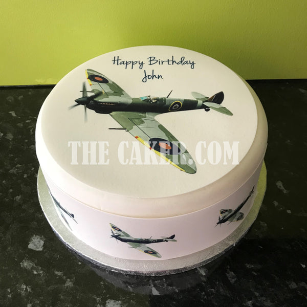 WW2 Spitfire Plane Edible Icing Cake topper 02