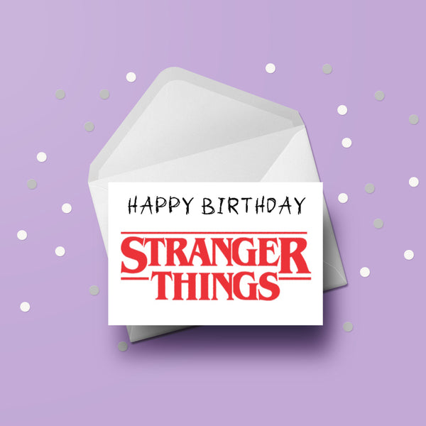 Stranger Things Logo Card