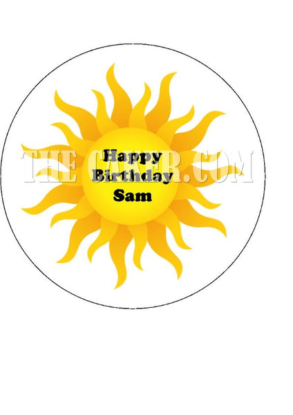 The Sun Edible Icing Cake Topper