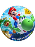 Super Mario Edible Icing Cake Topper 03