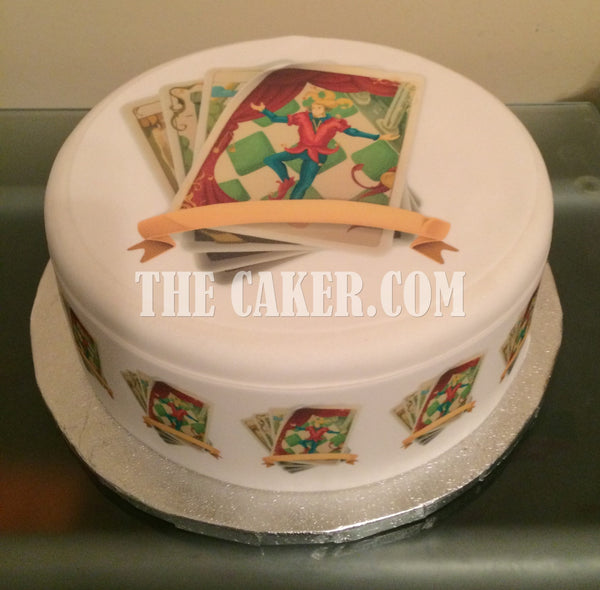 Tarot Cards Edible Icing Cake Topper