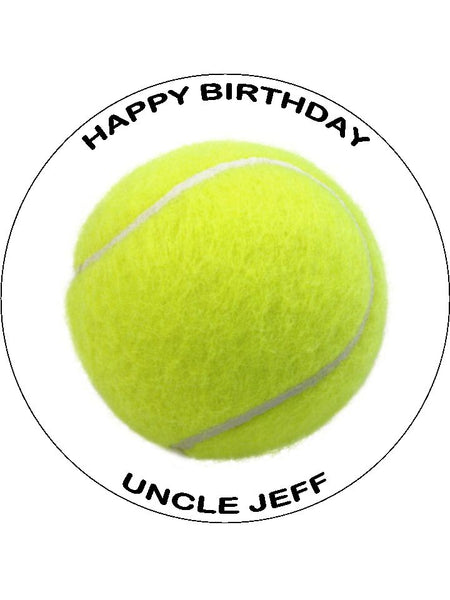 Tennis Ball Edible Icing Cake Topper
