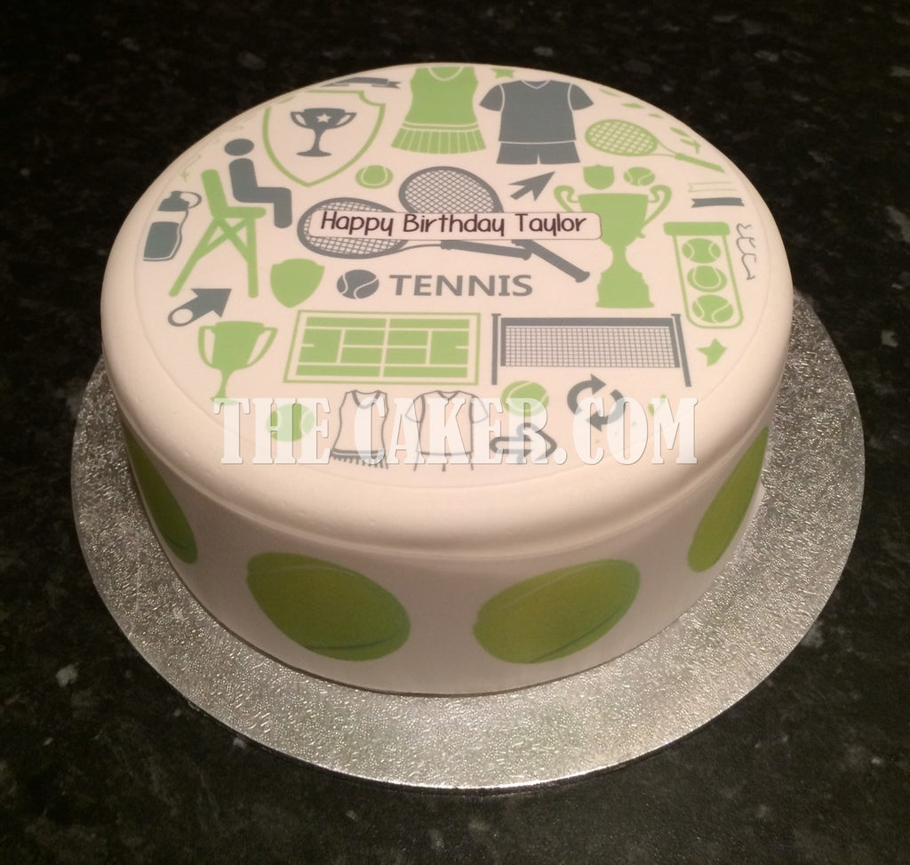 Tennis Theme Edible Icing Cake Topper The Caker Online