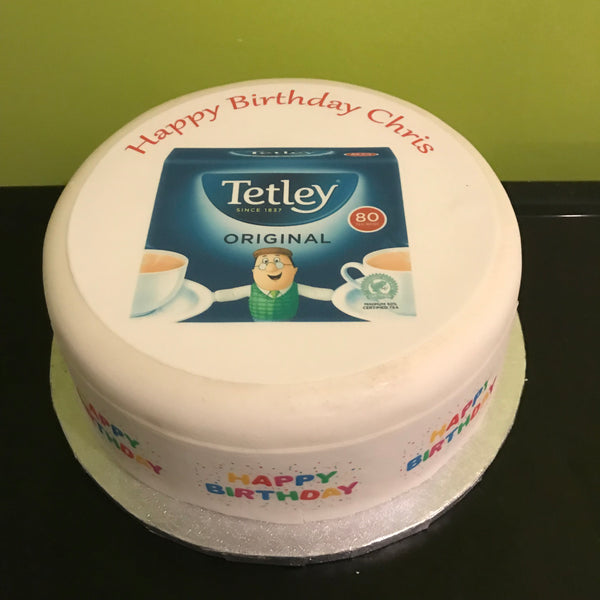 Tea Tetley Edible Icing Cake Topper