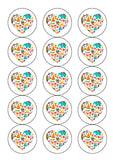 "15 x 2"" Edible Icing Cupcake Toppers with your own image"