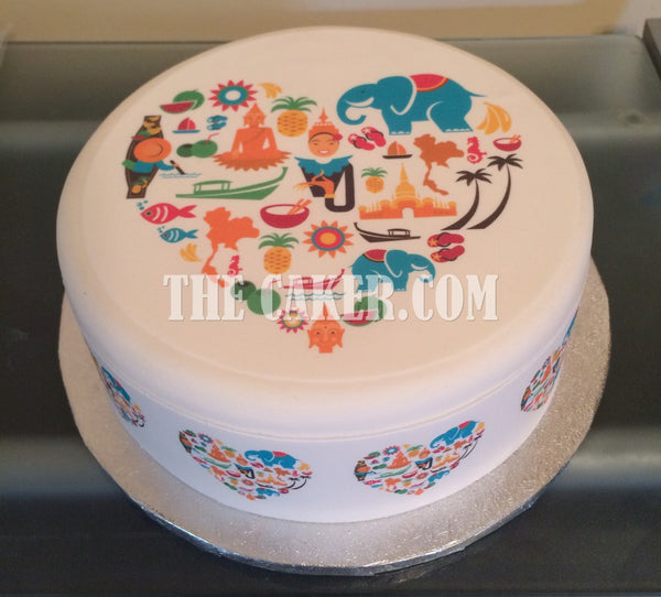 Thailand Love Edible Icing Cake Topper