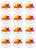 Thanksgiving Edible Icing Cake Topper 02