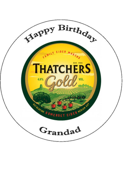 Thatchers Cider Logo Edible Icing Cake Topper