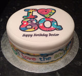 The 80's The Eighties Edible Icing Cake Topper