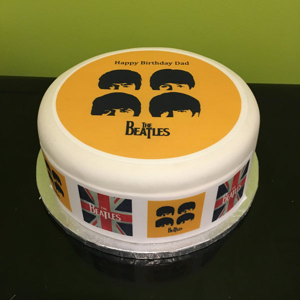 The Beatles Edible Icing Cake Topper 01
