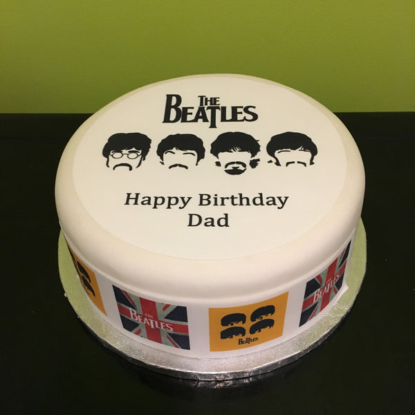 The Beatles Edible Icing Cake Topper 03