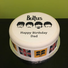 Awesome The Beatles Edible Icing Cake Topper 03 The Caker Online Funny Birthday Cards Online Alyptdamsfinfo