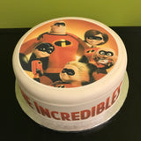 The Incredibles Edible Icing Cake Topper 02