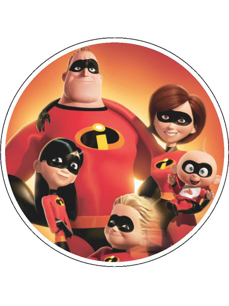 The Incredibles Edible Icing Cake Topper 02 The Caker Online