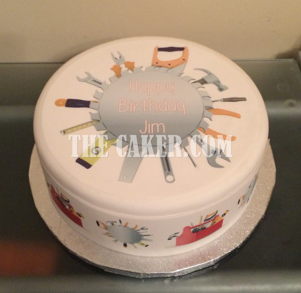 DIY Toolbox Tools Edible Icing Cake Topper 02