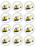 Digger Yellow Edible Icing Cake Topper 02