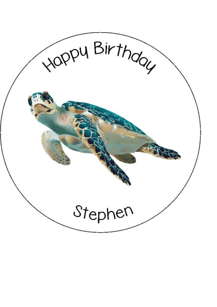 Turtle Edible Icing Cake Topper 02