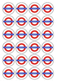London Underground Logo Edible Icing Cake topper