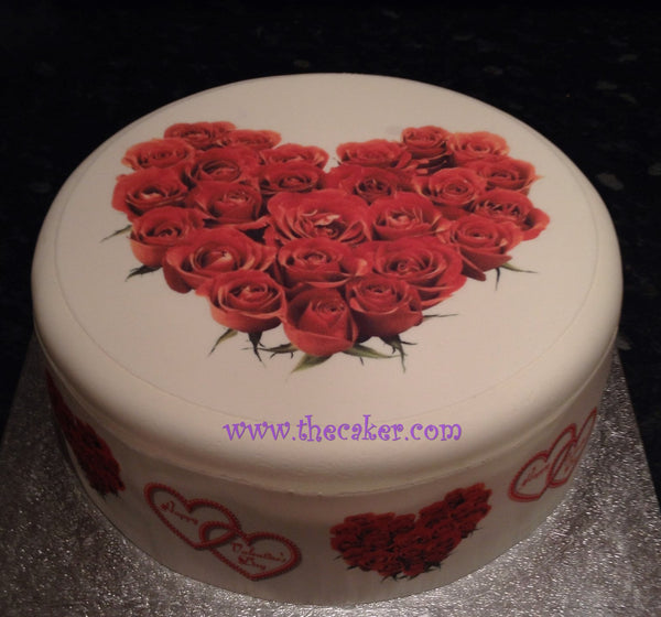 Valentine 04 Edible Icing Cake Topper